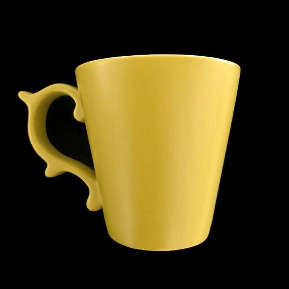 Starbucks Tazo Roccoco handle mug 2012 chartreuse